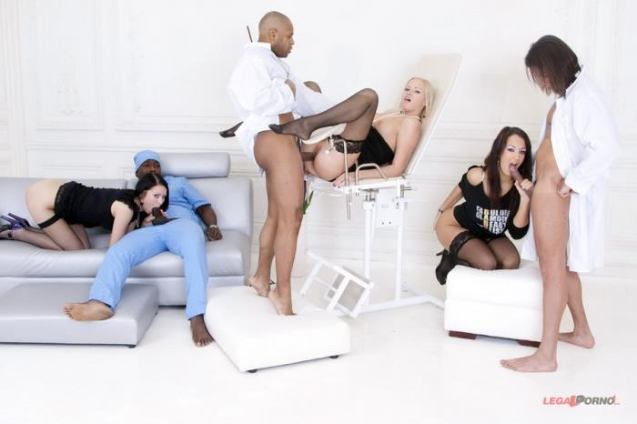 [LegalPorno] Clair, Mya Dark, Hailey - Insane Group Pissing In Gaping Ass! Second Camera (2014)