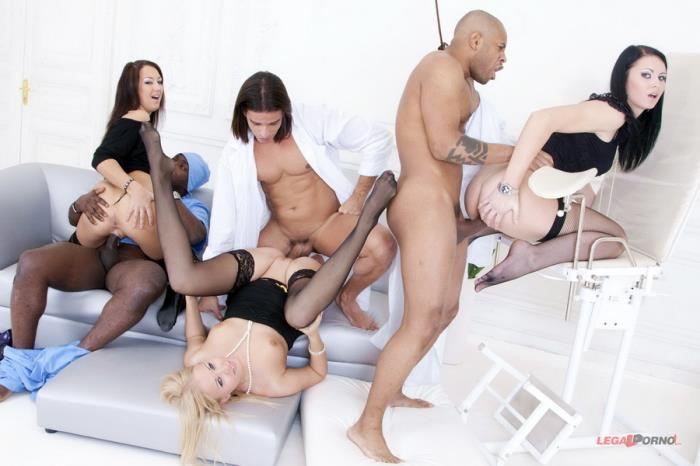 [LegalPorno] Clair, Mya Dark, Hailey - Insane Group Pissing In Gaping Ass! First Camera (2014) [HD 720p]