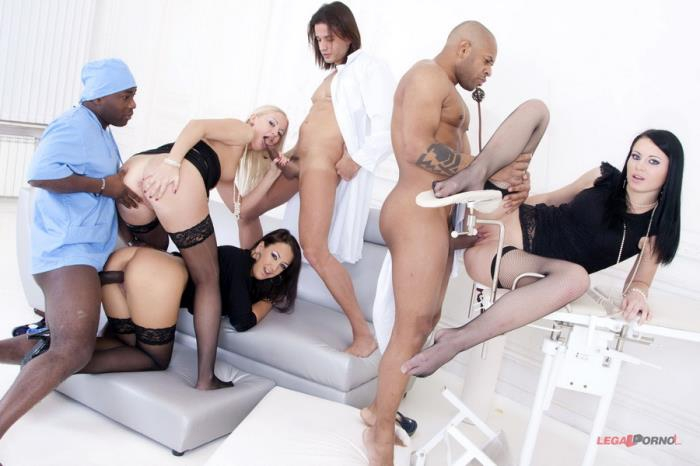 [LegalPorno] Clair, Mya Dark, Hailey - Insane Group Pissing In Gaping Ass! Second Camera (2014) [HD 720p]