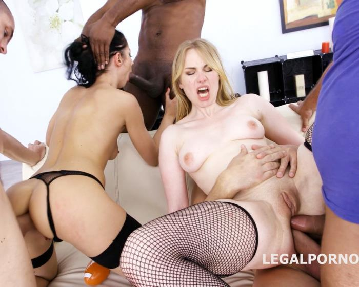 [LegalPorno] July Sun, Madison Lush - Double Addicted July Sun And Madison Lush 4 On 2 With Touchdown GIO381 (2017)