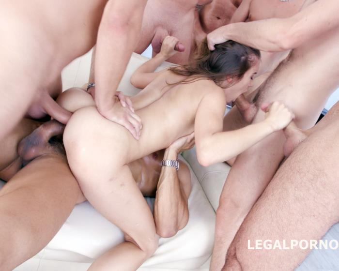 [LegalPorno] Evelina Darling - 9 On 1 Double Anal Gang Bang With Evelina Darling, Balls Deep Anal, Intense DAP, More Dap, 9 Swallows GIO431 (2017)