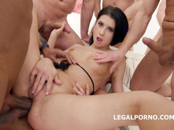 [LegalPorno] Nicole Black - Nicole Black Lesson Number 8, 10 On 1 DAP Gangband Balls Deep Anal, DAP, TP, Gapes, Swallow GIO576 (2018) [HD 720p]