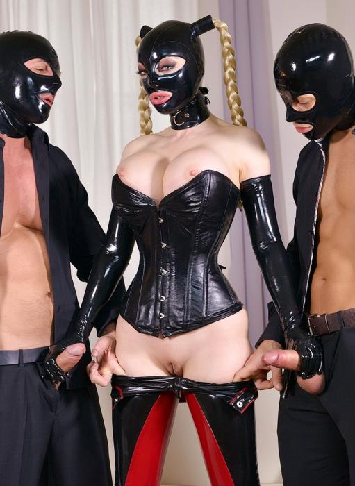 [LegalPorno] Latex Lucy - Cock Craving BDSM Pornstar Latex Lucy Fucked By Two Dominators Dicks GP092 (2018)